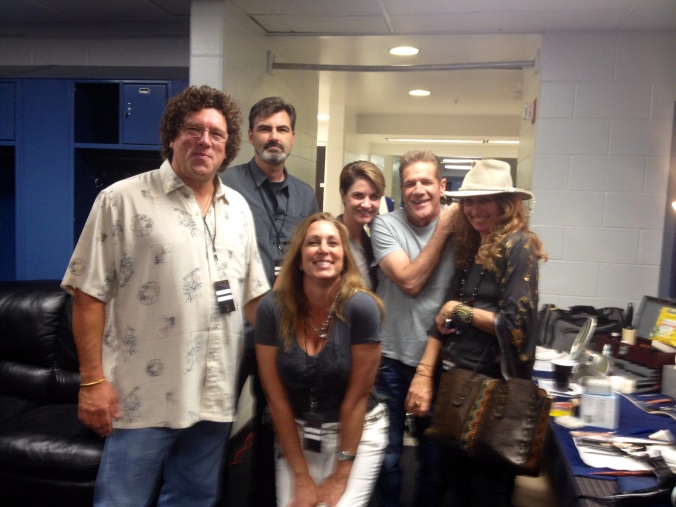 Backstage with some Friends at the Eagles Concert at the Tampa Times Forum